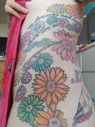 Colorful Flower Tattoo for Shannona