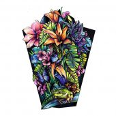 Tropical sleeve tattoo design in full color