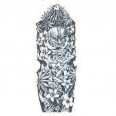 Custom Polynesian sleeve tattoo design