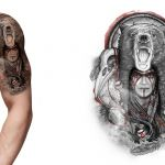 Half Sleeve Tattoo Design inspired by Native American traditions