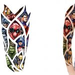 Marvel and DC Superhero sleeve tattoo design