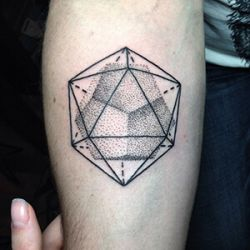 Icosahedron Tattoo Designs