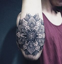 Black Mandala Tattoo Drawing