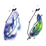 Andromeda Galaxy Feathers Tattoo Designs