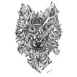 Wolf Made of Blades Tattoo