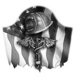American Firefighter Tattoo Design