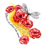 Yellow Brick Road and Flowers Tattoo Design