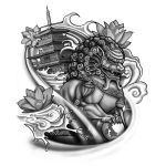 Foo Dog Tattoo Design