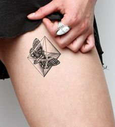 Octahedro Black Tattoo Design Ideas