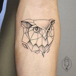 Owl Tattoo Design in Geometric Style