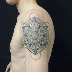 Metatron Cube Tattoo Designs