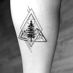 Tree Tattoo Designs In A Geometric Style