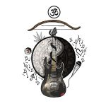 Guitar and Bow Tattoo Design Idea