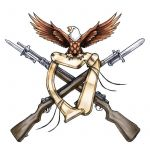 American Guns and Eagle Tattoo Design