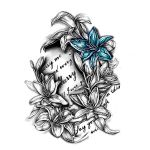 Blue Lilly Tattoo Art
