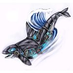 Mechanical Orca Tattoo Designs