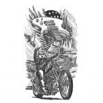 Americana Motorcycle Tattoo Drawing
