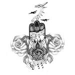 Music Hands Tattoo Drawings