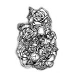 Roses and Skulls Tattoo Designs