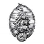 Classic Nautical Ship Tattoo Design Idea