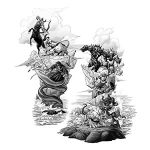Witch Scene Tattoo Designs Drawing