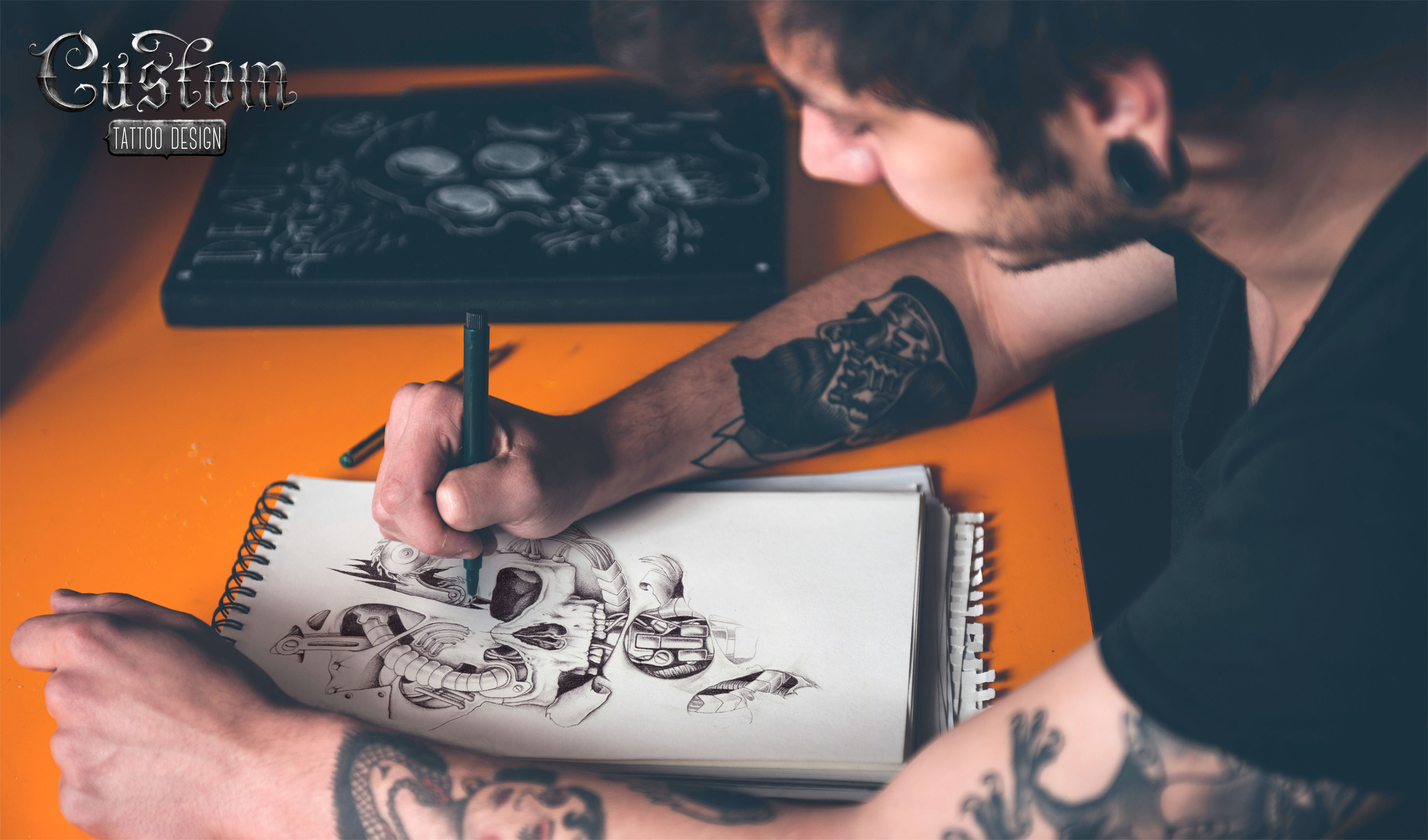 how to add onto line tattoos in a sleeve